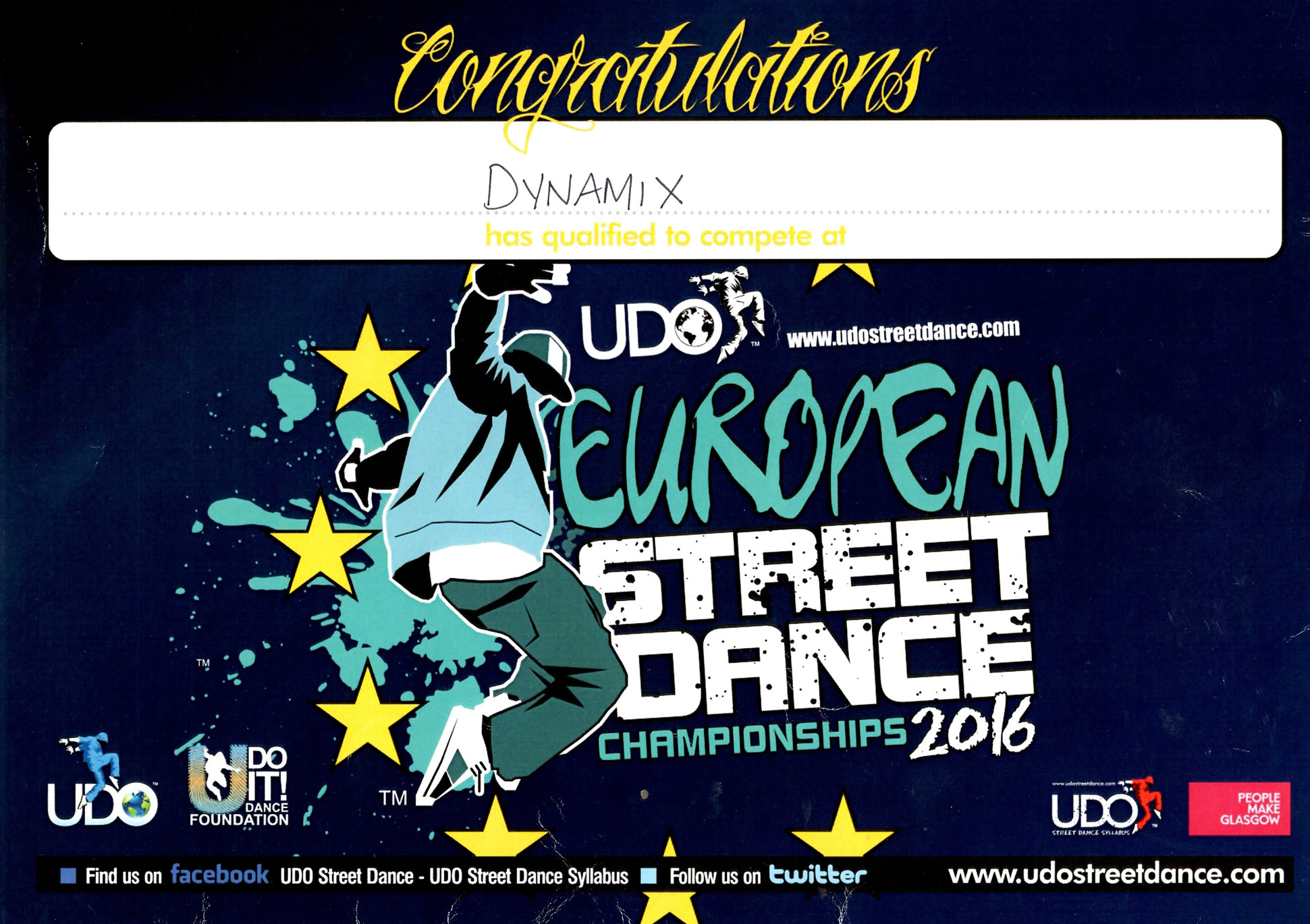 UDO European Certificate [Small]