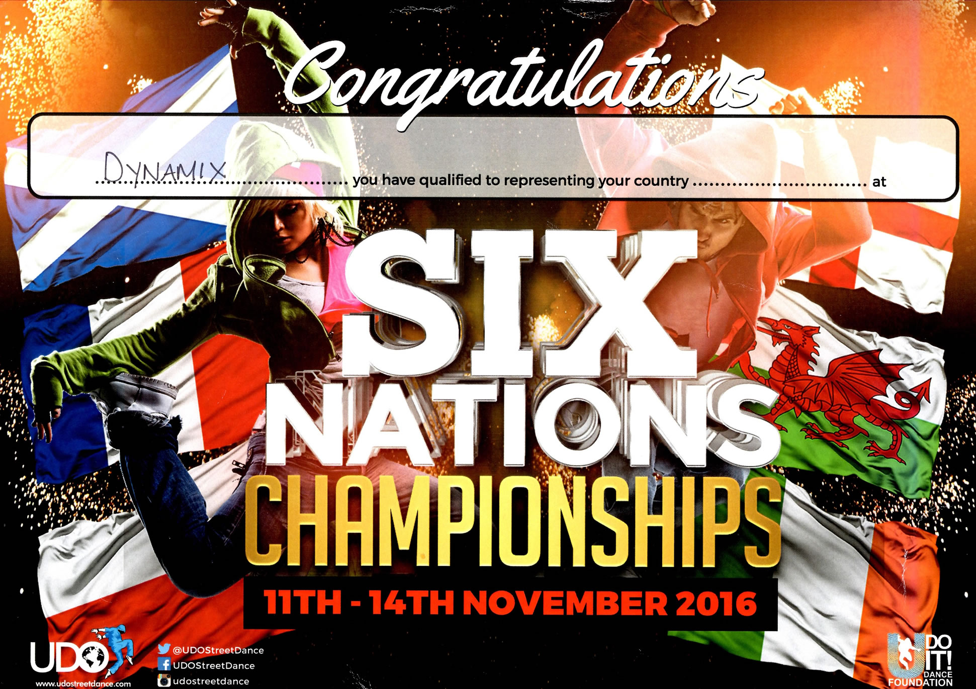 UDO Six Nations Certificate [Small]