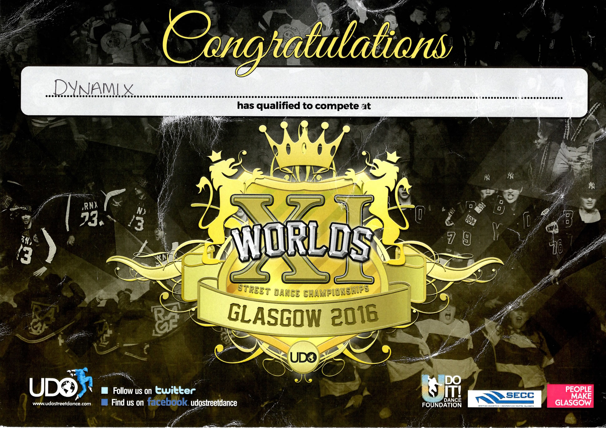 UDO Worlds Certificate [Small]